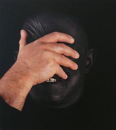 Szirtes János: Pasztózus Fekete - I. (1/1) / Pastose Black - I. (1/1), 2012, 80 x 90 cm, inkjet print, matt lakk, vászon / inkjet print, matt lacquer on canvas