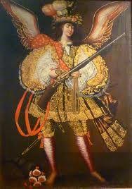 Arcangel arcabucero - escuela cuzqueña