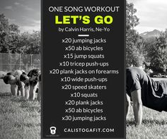 The one song workout will either kickstart your day or put an exclamation  point on it. Here are two ways to earn your bonus burn. One Song Workouts, Workout Songs, Song Workout Challenge, Song One, The One, Letting Go, Fitness Challenges, Let It Be, Lets Go
