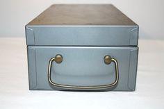 1960's Combination Lock Box Industrial Metal by SeacoastVintage, $25.00