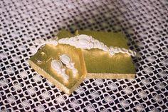 """Zestaw ślubny sutasz """"Candy gold soutache"""" by Kavrila. Zdjęcie od klientki <3"""