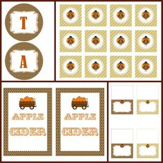 free thanksgiving/fall printables