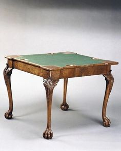 English 18th Century George I Burr Card Table -