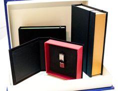 cajas para fotolibros, pendrive etc.