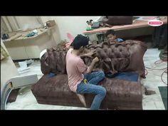 Chester field sofa make by zafar khan - YouTube