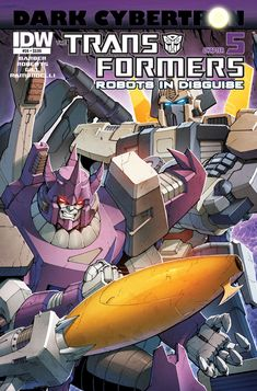 Transformers: Robots in Disguise #24: Dark Cybertron Part 5 (of 12)  John Barber & James Roberts (w) • Robert Gill & Livio Ramondelli (a) • Casey W. Coller (c)  UNDER FIRE! AUTOBOTS and DECEPTICONS unite to battle a common foe… but will it be enough to stop the DARK CYBERTRON prophecy from coming true? SHOCKWAVE's plan reaches fruition—while in the Dead Universe, secrets are revealed!  FC • 32 pages • $3.99