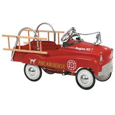 Have to have it. InSTEP Fire Truck Pedal Riding Toy - $151.38 @hayneedle