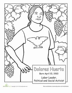 Famous Hispanic Americans coloring pages School