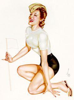 Illustration by Alberto Vargas, 1945 - Lingerie Briefs on Tumblr