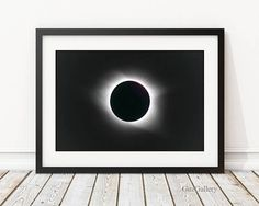 Total Solar Eclipse 2017 Frame or Wood Photo Block South