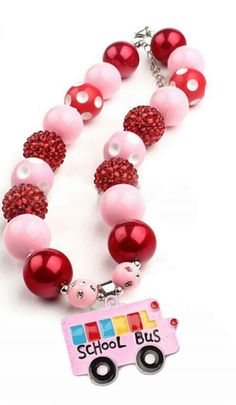 Bus Beaded Necklace