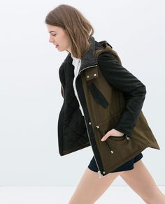 ZARA - TRF - SHORT PARKA | want so much ... | Pinterest | Blazers ...