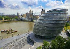 London City Hall  #Foster #Norman Pinned by www.modlar.com