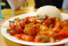 Cantonese cuisine comes from the Guangdong province of China Recipe For Sweet & Sour Chicken, Chicken Recipes, Slow Cooker Recipes, Cooking Recipes, Cantonese Cuisine, Restaurant Dishes, Chinese Restaurant, Asian Recipes, Ethnic Recipes