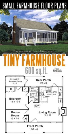 Small farmhouse plans for building a home of your dreams &; Craft-Mart Small farmhouse plans for building a home of your dreams &; Craft-Mart Christina Aksit christinaaksit Traumhaus Designing and building a […] Homes Cottage floor plans Br House, Tiny House Cabin, Tiny House Plans, Tiny House Design, Guest House Plans, House Bath, Tiny Home Floor Plans, Small House Layout, Cabin Floor Plans