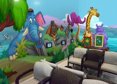 Wall mural designed by Imagination Dental Solutions