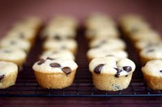 mini maple choc chip pancake muffins