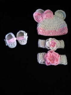 Baby girls white and pink set