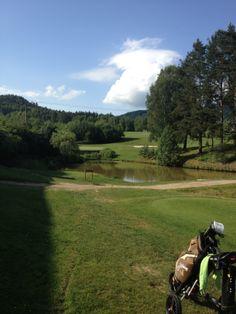 Hole 10 on golf course Malevil, Czech Republic. Par was nice surprise here!