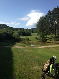 Hole 10 on golf course Malevil, Czech Republic. Par was nice surprise here!