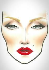 ".In my opinion, this looks like a ""Marilyn"" Face Chart although it may not be intentional."