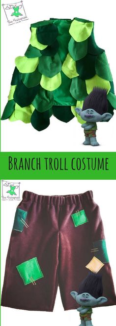 Branch Troll Costume for Kids, Halloween Costume, Trolls Movie, Kids Halloween #affiliatelink