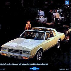 Chevrolet Monte Carlo Sport Coupe T-Top Cars Usa, Us Cars, Sport Cars, Chevrolet Monte Carlo, Chevrolet Corvette, Retro Cars, Vintage Cars, Model Cars Kits, Grand National