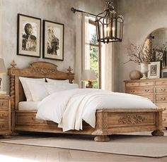 Restoration Hardware French Empire Bed. New Orleans has the antique black in the store. Eye catching :)