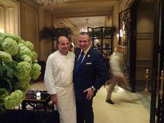 Eric Briffard et Eric Beaumard au V le restaurant du Four Seasons George V à Paris