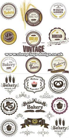 bakery and cupcake company label and logo ideas www.cheap-logo-design.co.uk #bakerylogo #cupcakecompany #cakelogo
