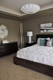 Behr Mocha Accent paint & love that bedroom.