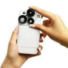 今期推介 – 用手機都可以享受多角度的拍攝樂趣?這個iZZi ORBIT PRO iPhone 5s/5殼連三鏡頭套裝,具備X2、廣角鏡及微距功能,殼身有紅、藍、紫、黑、銀色選擇。