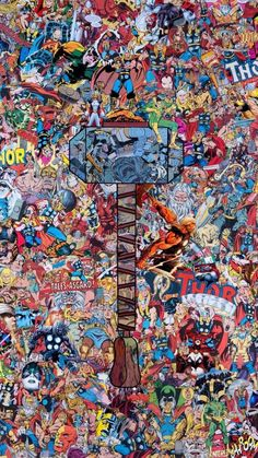 Marvel Thor Collage Phone Tablet Wallpaper / Credit to Creator Superhero Marvel Art, Marvel Dc Comics, Marvel Heroes, Marvel Avengers, Wallpaper Marvel, Cartoon Wallpaper, Map Wallpaper, Rainbow Wallpaper, Trendy Wallpaper
