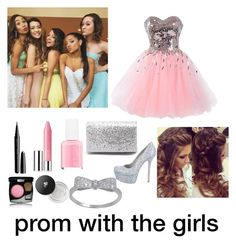"""Prom with these girls"" by brissaivonee ❤ liked on Polyvore featuring Alice + Olivia, Diana Ferrari, Essie, Clinique, Lancôme, Marc, Chanel and Retrò"