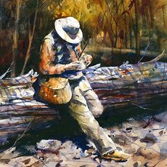 DECISIONS Flyfishing 12 x 18 Giclee Print by DeanCrouserArt, $45.00 ETSY