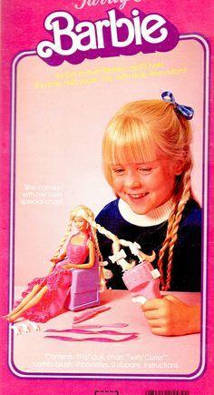 Meine erste und einzige Barbie -der Curler war toll,  ich wünschte, ich hätte den noch *g*