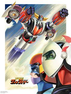 UFO Robot Grendizer by Philippe Dessoly Harry Potter Disney, Robot Cartoon, Cartoon Tv, Mecha Anime, Gundam, Manga Art, Anime Art, Japanese Superheroes, Arte Robot