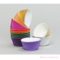 Metalic cases! www.bakerscreations.com #cupcakes