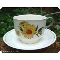 View Large Image for Wedgwood Sunflower Teacup & Saucer 2.50 inches