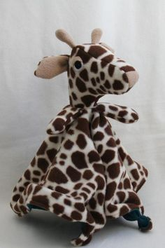 Sewing: Giraffe Lovey Blanket