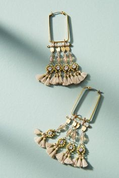 Coral Reef Hoop Earrings