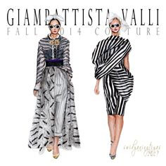 Giambattista Valli Fall Couture illustration by swidyaningtiyas