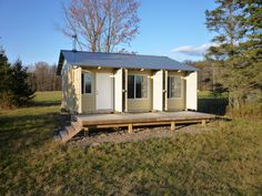 Lovely little shipping container home.
