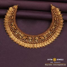 Gold jewellery design necklaces - Shop Mind Blowing South Indian Style Imitation Jewellery Designs Online Here – Gold jewellery design necklaces Indian Bridal Jewelry Sets, Indian Jewelry, Indian Necklace, Wedding Jewellery Collections, Indian Gold Bangles, Indian Gold Necklace Designs, Bengali Jewellery, Gold Haram Designs, Indian Gold Jewellery Design