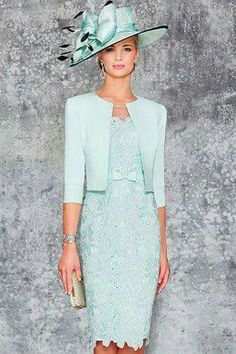 Ronald Joyce 991102 02 stunning fitted dress matching jacket sits edge to edge with a rounded collar and length sleeves in Aqua and Pale Blue. Mother Of Bride Outfits, Mother Of Groom Dresses, Bride Groom Dress, Groom Outfit, Mothers Dresses, Mother Of The Bride, Mob Dresses, Bridesmaid Dresses, Bride Dresses