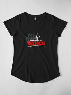 """Dance Silhouette"" Women's Premium T-Shirt by LisaLiza 
