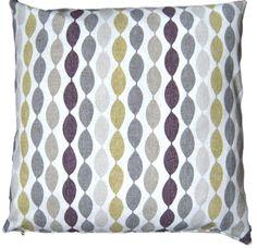 "Cushion Cover Handmade Twist Elderberry Clarke and Clarke 16"" Striped Zipped £9.75"