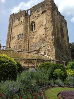 """Guildford Castle, England - In its simplest terms, the definition of a castle accepted amongst academics is """"a private fortified residence""""."""