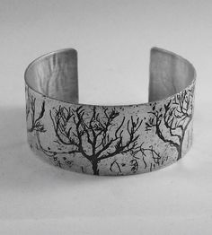 Etched Tree Cuff