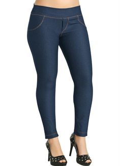 Calça legging cotton jeans